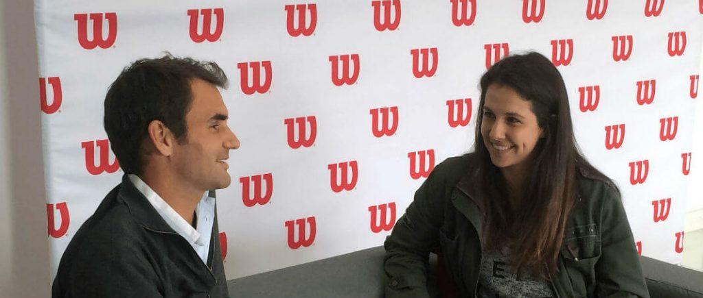Roger Federer and Nina Pantic