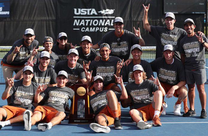 2019 NCAA DI National Champions Texas men's tennis