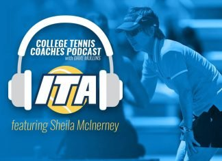 College Tennis Coaches Podcast with Dave Mullins featuring Sheila McInerney