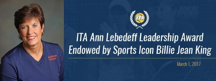 ITA Ann Lebedeff Leadership Award Graphic