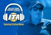 Cristina Moros on the ITA College Tennis Coaches Podcast