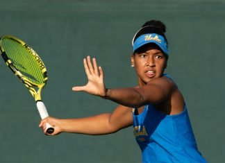 Jada Hart of UCLA during a women's singles match at the 2019 Oracle ITA National Fall Championships