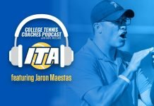 Jaron Maestas on the ITA College Tennis Coaches Podast