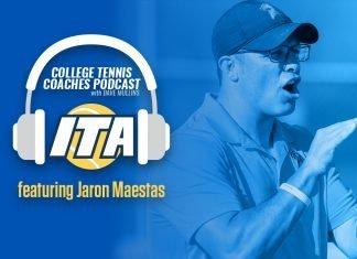 Jaron Maestas on the ITA College Tennis Coaches Podast