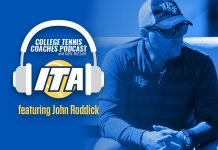 John Roddick of UCF Men's Tennis joins David Mullins on the ITA College Tennis Coaches Podcast