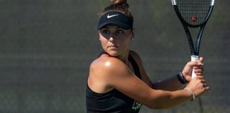 Maria Genovese of Georgia Gwinnett Women's Tennis during play of the 2020 ITA Cup
