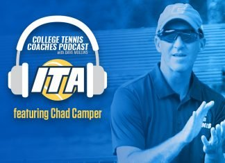 Chad Camper of UTC joins us on the College Tennis Coaches Podcast