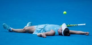 It took five match points, but Brady finally reached her first Grand Slam final. (Getty Images)