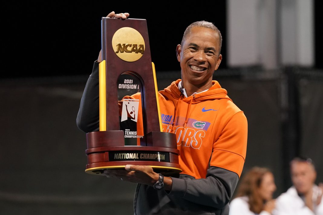 Bryan Shelton of the University of Florida Men's Tennis Program
