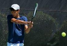 Leo Vithoontien of Carleton Men's Tennis at the 2021 NCAA Division III Tennis Championships