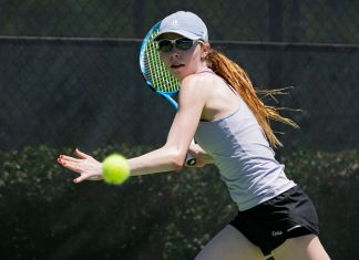 Erica Ekstrand of Williams College at the 2021 NCAA Division III Tennis Championships